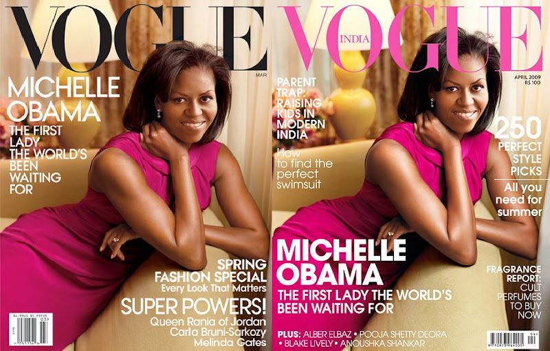 Michelle Obama Vogue India Vogue US cover Jason Wu magenta dress