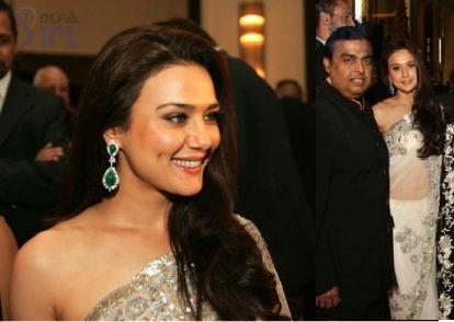 Preity Zinta Manish Malhotra IPL Gala Dinner