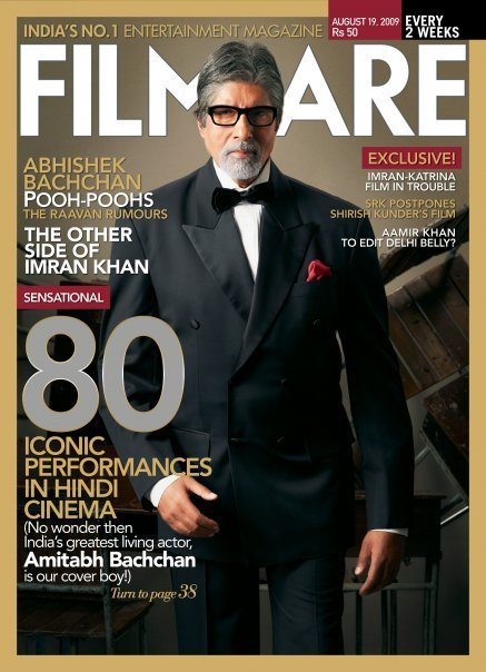 Amitabh Bachchan Filmfare August 2009 Cover