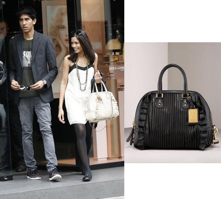 Freida Pinto Dolce Gabbana bag