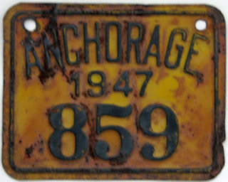 Anchorage (Alaska) city plate #859