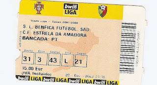 bilhete ticket ingresso benfica