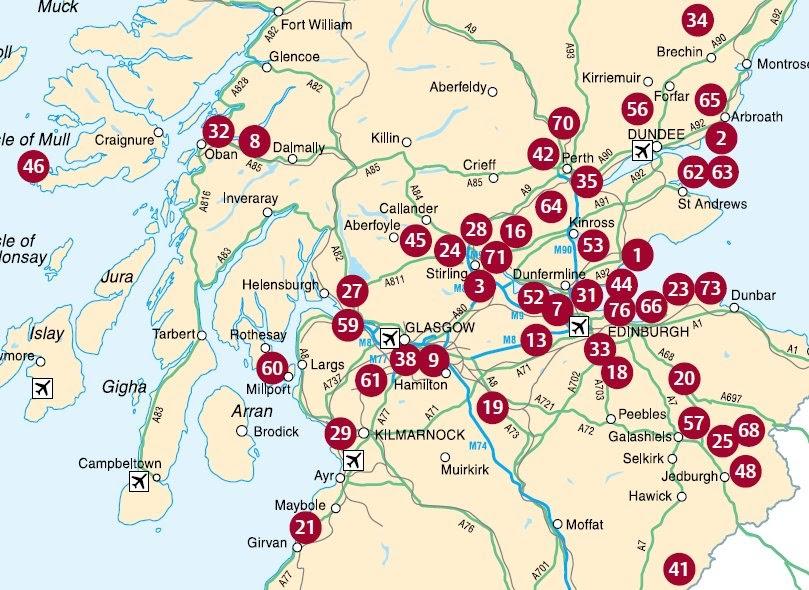 Lugares sitios de inter s pueblos con encanto cerca y en for Oficina de turismo de escocia
