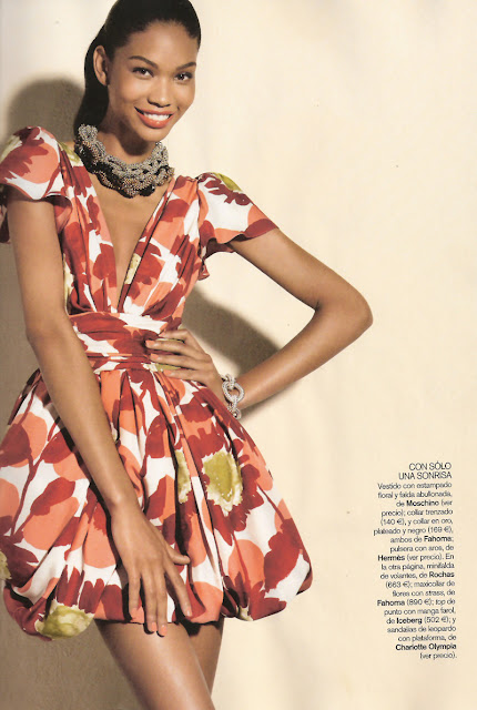 Chanel Iman+Vogue Spain+fashionablyfly.blogpspot.com