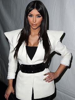 Kim Kardashian white coat FashionablyFly.blogspot.com
