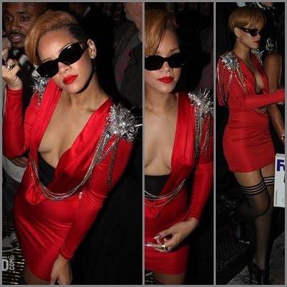 rihanna_rated R_red dress_fashionablyfly.blogspot.com