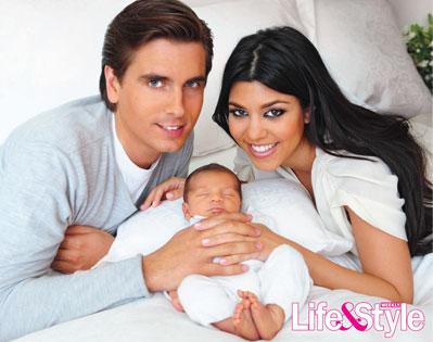 Kourtney Kardashian+Baby Mason-fashionablyfly.blogspot.com
