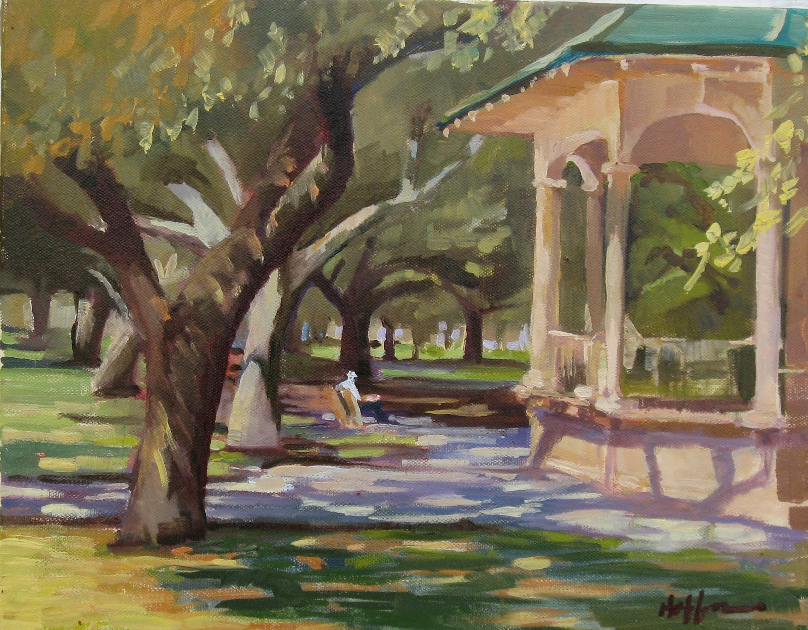 "Mary's Paintings: ""Sunny Day At The Park"" GIFTED"