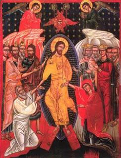 Icono que muestra la escena de la aparición de Jesús a sus discípulos