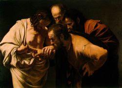 La incredulidad de Santo Tomás. Caravaggio. 1601
