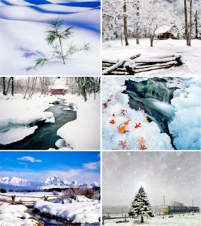 Зимние фото обои для рабочего стола
