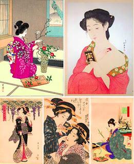 Гравюры японских художников конца 19-го начала 20-го века