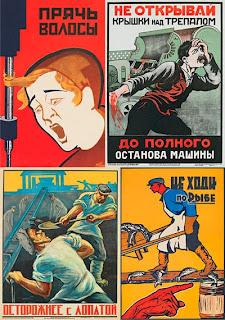 Старые советские плакаты по технике безопастности