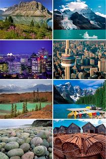 Обои для рабочего стола с видами канадских ландшафтов и городов