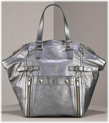 yves saint laurent mini metallic downtown bag