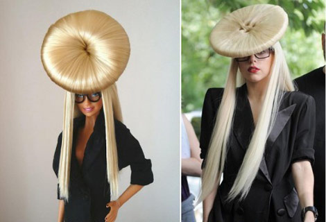 lady gaga crazy hairstyles