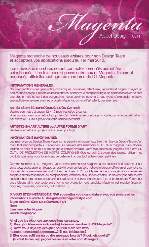 Appel DT chez Magenta - édité avec le choix final APPELDT