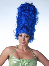 A model in the Marge Simpson