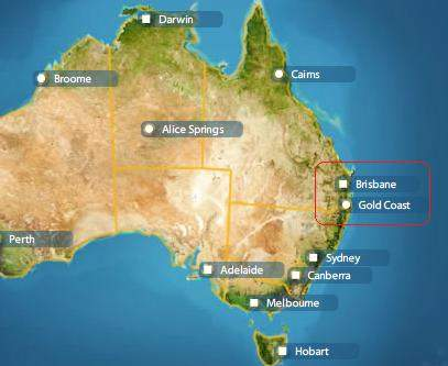 Gold Coast Is 60 Km South Sydney Is 900km South Great Barrier Reef Cairns Is 1600km North  Sq Km Singapore Only 650 Sq Km