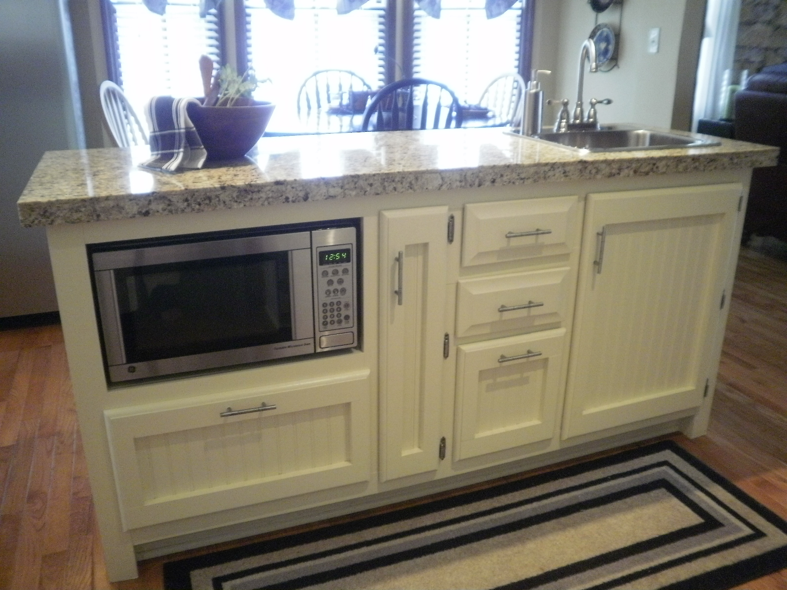 microwave drawer on pinterest built in microwave home our remodeled kitchen island with built in microwave shelf