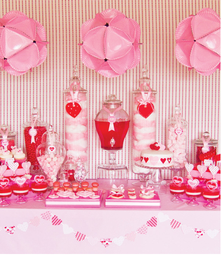 candy buffet table. cute candy buffet table.