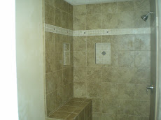 Complete Shower with Seat & Bathroom Floor