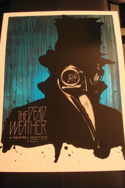 Tonights The Dead Weather Poster from Orlando House of Blues
