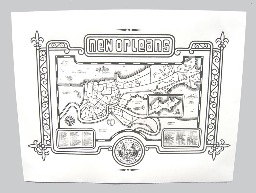 new orleans coloring pages - photo#19