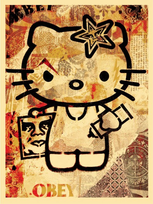 Shepard Fairey Hello Kitty Poster on sale details