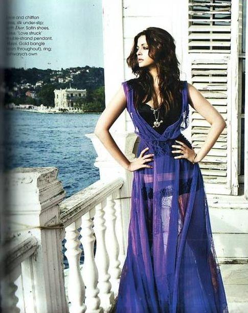 Aishwarya Rai and Abhishek Bachchan On Vogue Magazine July 2010