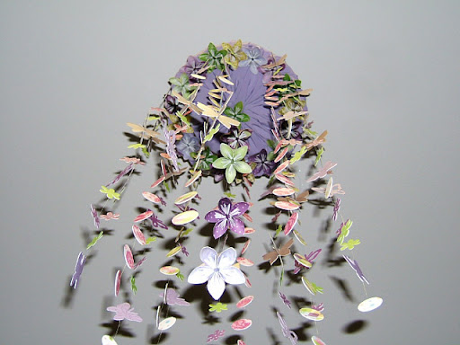 12 Strands Along The Outer Hoop With Butterflies And Flowers Center Strand 4 5 Origami Hanging Facing Downward