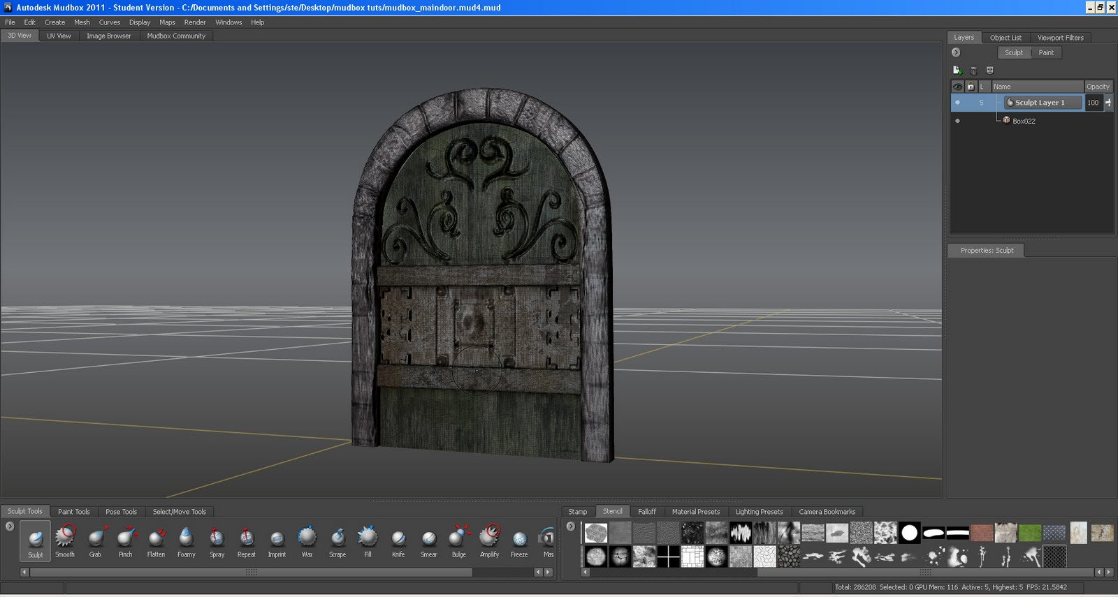 I was thinking what i wanted the main door to look like  and decided I wanted a bit LOTR look so i came up with this which works well . & 3rd Year Project Hell Hotel: medieval door