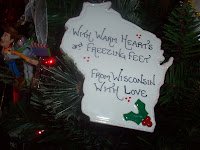 Homemade Wisconsin Ceramic Ornament