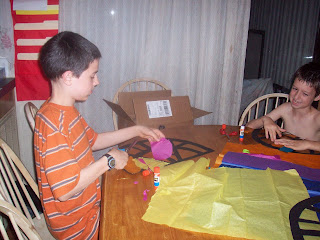 Making Stain Glass Windows - Cutting Tissue Paper