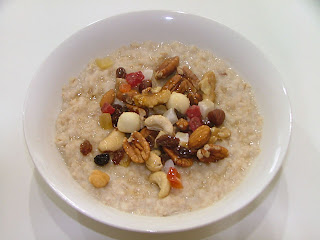 A Personal Trainers Favourite Breakfast - Rolled Oats With Mixed Nuts and Honey