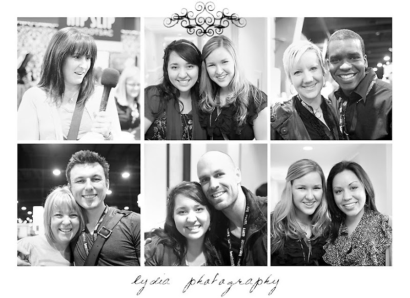 Jessica Claire, Lydia, Jamie Delaine, Tasra & Ron Dawson, Chenin & Doug Boutwell, Mike Colon, and Marisa at WPPI in Las Vegas, Nevada