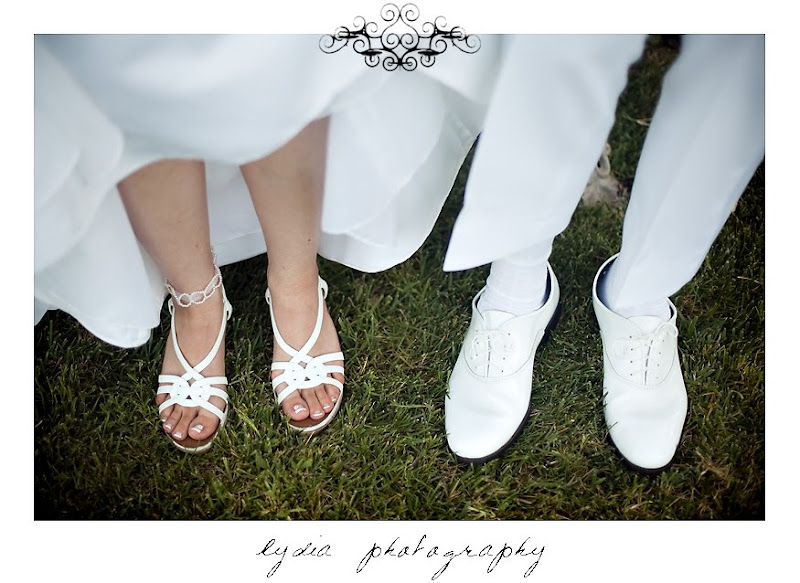 Rosemary and Jared's shoes for their wedding in Santa Rosa California