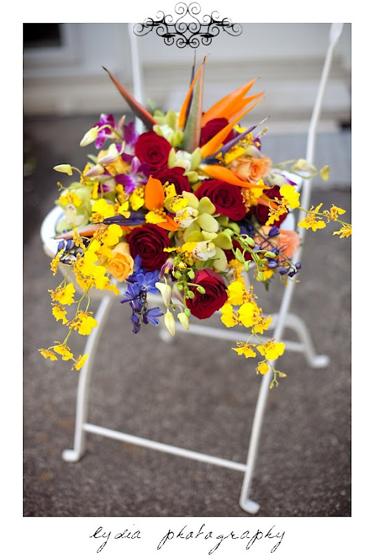 Picture of the Rosemary's wedding bouquet in Santa Rosa California