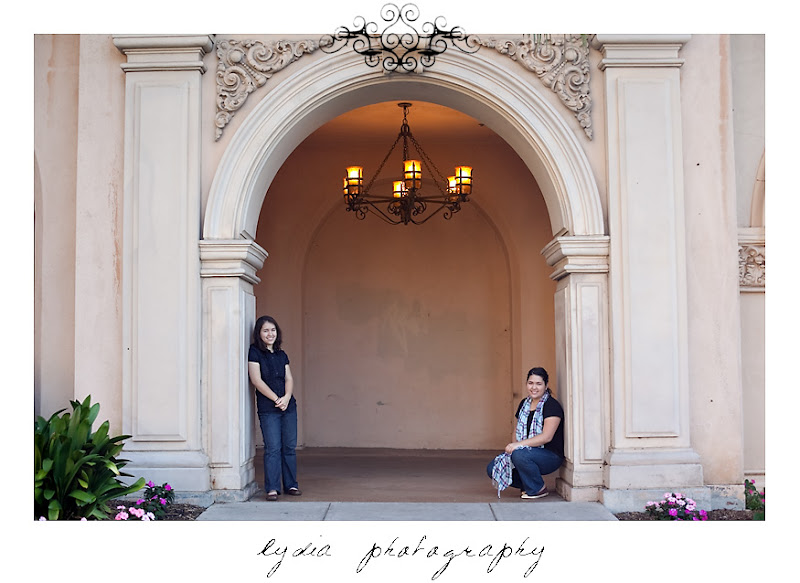Picture at Julia and Elizabeth at Balboa Park