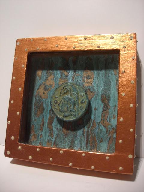shadowbox, crafts, DIY art, art, foreign coins