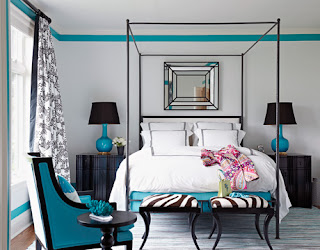 Turquoise Bedroom Ideas | Interior Decorating and Home Design Ideas