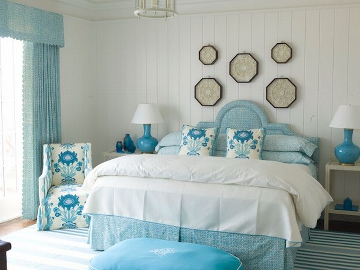 Turquoise bedroom ideas home interior design for Aquamarine bedroom ideas