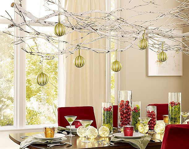 Inspire bohemia holiday chandeliers and brancheliers for Christmas decorating ideas for dining room chandelier