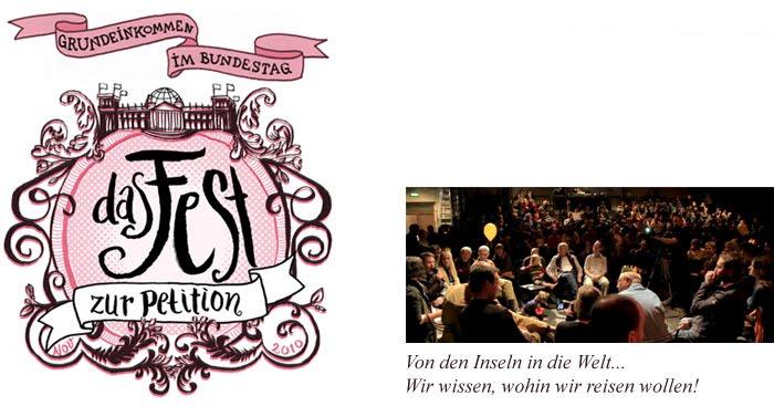 Grundeinkommen im Bundestag - Das Fest