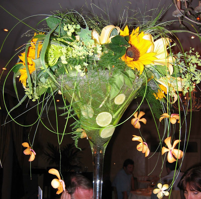 Martini Vase Flower Arrangement