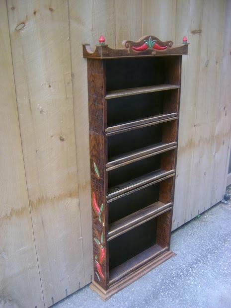 Custom Wood Spice Rack