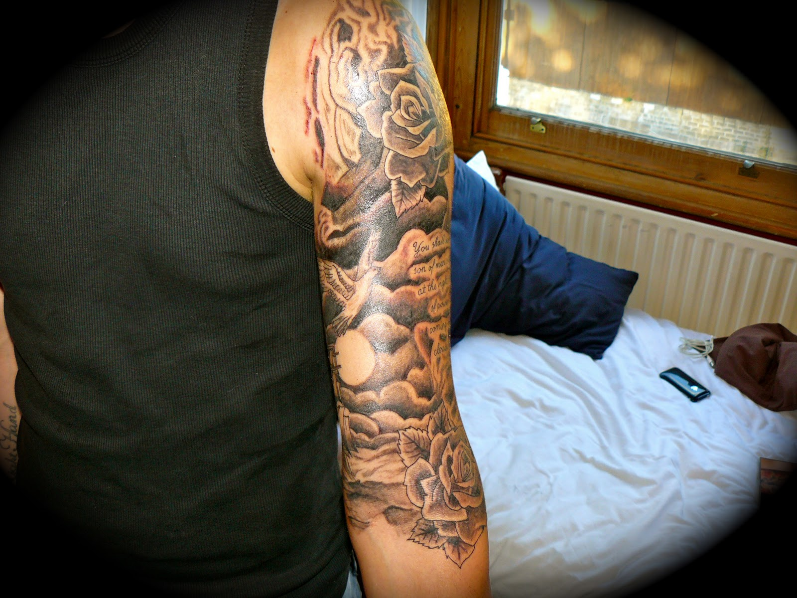 Cloud Tattoo Sleeve
