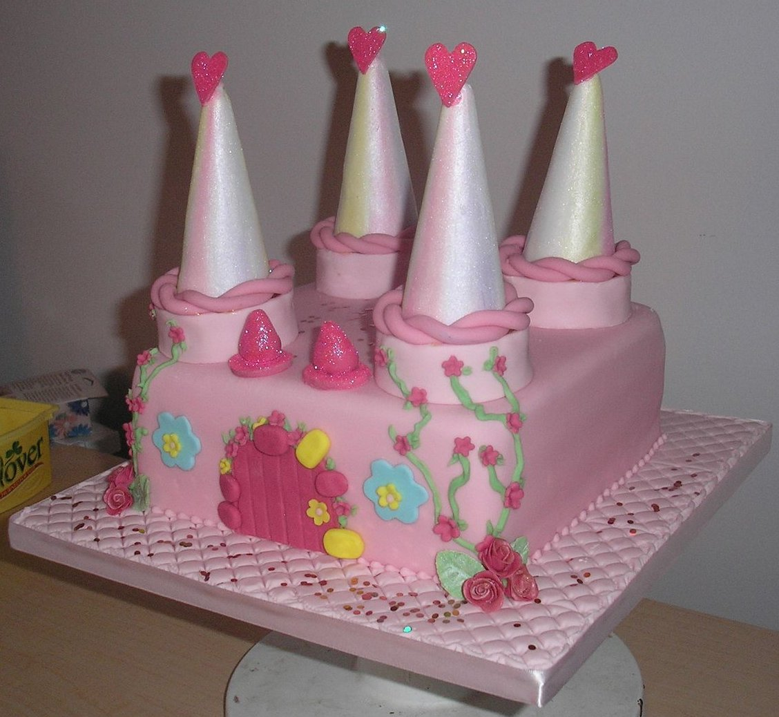 Images Of Castle Birthday Cake : Special Occasion Cakes: Pink castle birthday cake