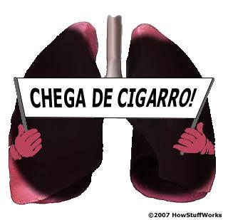 A observação do vídeo para deixar de fumar