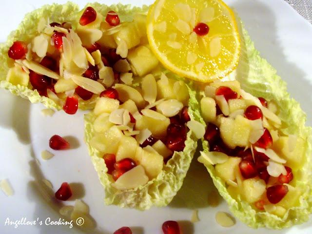 ... с ябълка и нар / Apple and Pomegranate Fresh Salad